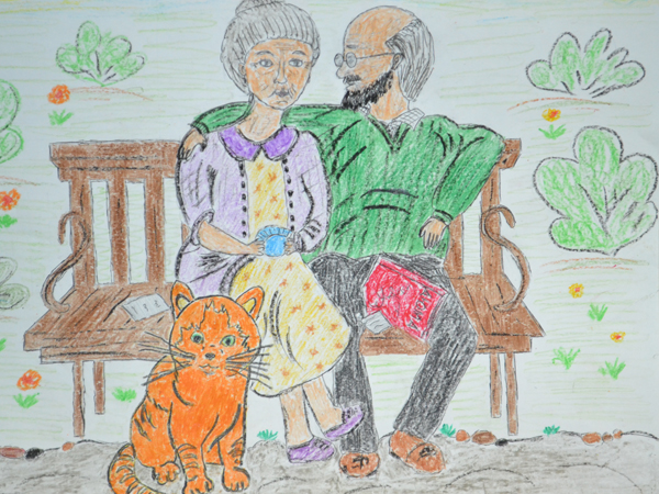 День пожилых людей рисунок детский